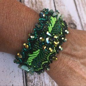 Jewelry - Czech Crystal Guatemalan Cuff